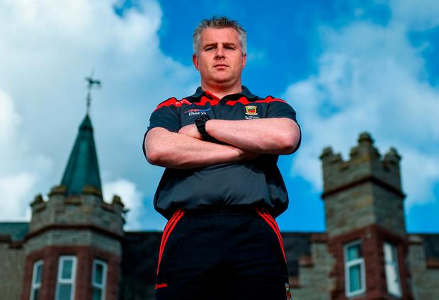 Mayo manager Stephen Rochford poses for a portrait following a press conference ahead of the GAA Football All-Ireland Senior Championship Final at Breaffy House Hotel in Breaffy, Co Mayo. Photo: David Fitzgerald/Sportsfile