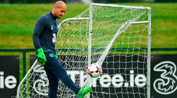 Darren Randolph pictured during Republic of Ireland Squad Training at FAI NTC in Abbotstown, Dublin. Photo: Eóin Noonan/Sportsfile