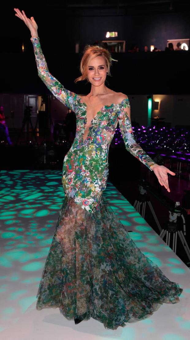Brittany Mason at the final of Miss Universe Ireland 2017 at the Mansion House. Picture: Brian McEvoy