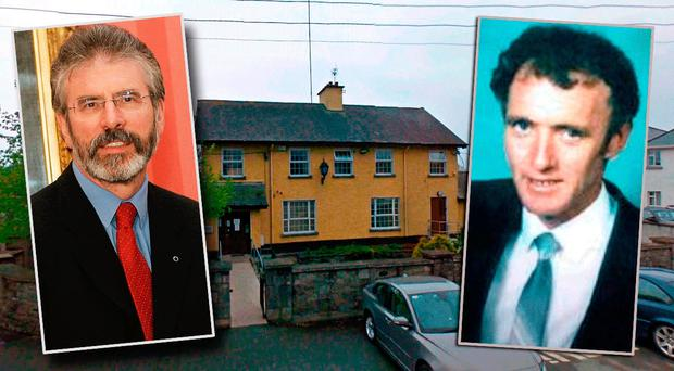 Gerry Adams (left) and Tom Oliver (right)