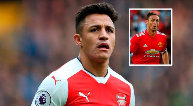 Alexis Sanchez and (inset) Matic was a great buy for Manchester United