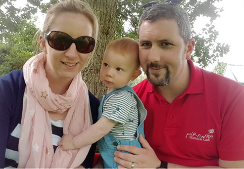 Grainne O'Briend and her husband Conor Gahan are having to meet rising costs for their two children