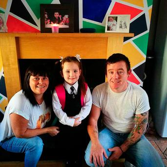 Noreen, Ger and their daughter Elliana