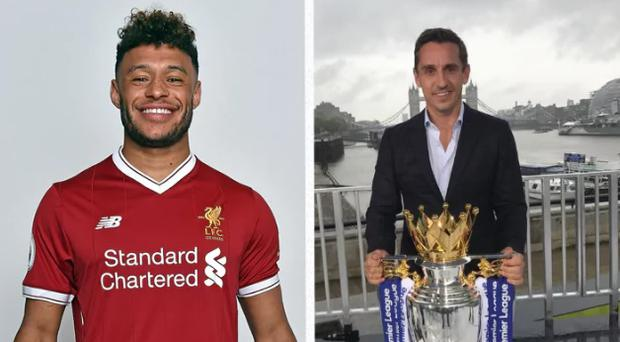Gary Neville believes Oxlade-Chamberlain faces an uphill battle to make it into Liverpool's first team. CREDIT: REUTERS
