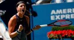 Kvitova dropped only six points on her serve in the opening set and converted all three of her break points.