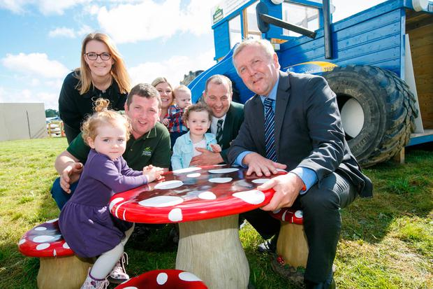 Agriculture Minister Michael Creed at the launch of this year's National Ploughing Championships. Photo: Alf Harvey