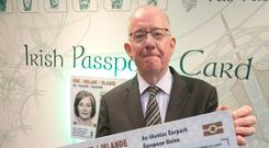 Passport cards are already in use. Picture credit; Damien Eagers