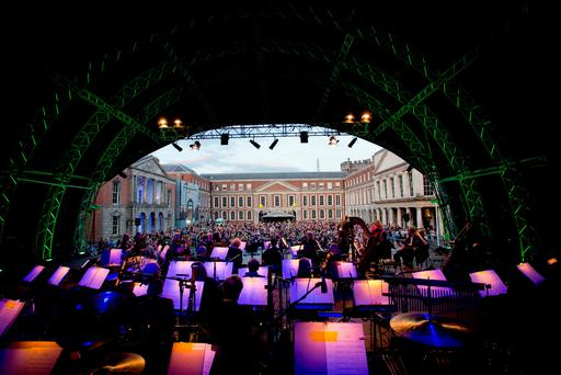 The RTÉ Orchestra performs at Dublin Castle. Picture: Maxwells