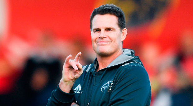 'The presence of Ireland defence coach Andy Farrell, who had a brief stint with Munster, didn't go unnoticed among supporters amid speculation that he may be a possible replacement when Rassie Erasmus (above) departs in December' Photo: Sportsfile