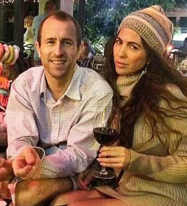 Lewis Bennett, 40, and Isabella Hellmann were on belated honeymoon cruise