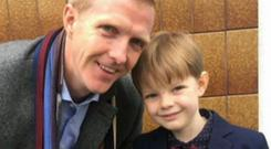 Henry Shefflin pictured with his son Henry Jr (7)