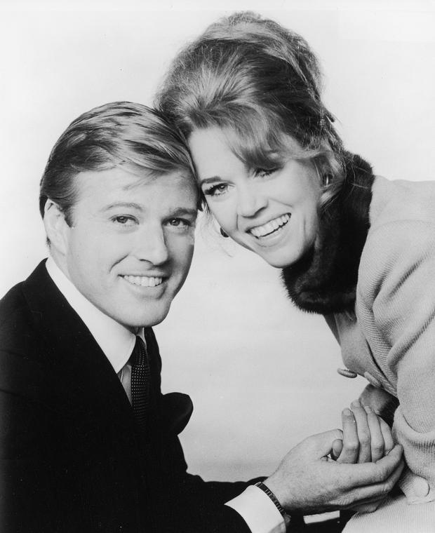 Robert Redford and Jane Fonda for the film 'Barefoot in The Park' directed by Gene Saks. (Photo by Paramount Pictures/Getty Images)