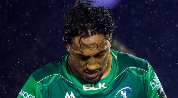Bundee Aki of Connacht Rugby after the Guinness PRO14 Round 1 match between Connacht Rugby and Glasgow Warriors at the Sportsground in Galway. Photo by Matt Browne/Sportsfile