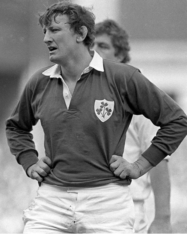 RUGBY GIANT: Willie Duggan playing for Ireland in 1984. It was his ability to drink Smithwick's, his smoking and his colourful personality that endeared him to Irish rugby fans. Photo: Ray McManus/Sportsfile