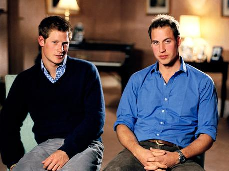 Prince Harry (left) and Prince William, gave a revealing interview in the excellent Diana, 7 Days shown on RTE and BBC. Photo: PA