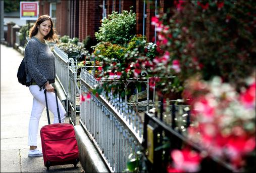 JUST A ROOF OVER MY HEAD: Sara Ortiz from Madrid on the hunt for accommodation in Dublin. Photo: David Conachy