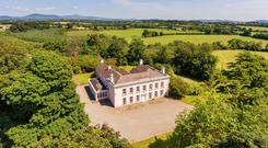 The house sits on 50 acres of parkland