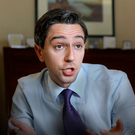 BOLD AIMS: Health Minister Simon Harris in his office at the Department of Health in Hawkins House, Dublin. Photo: Frank McGrath