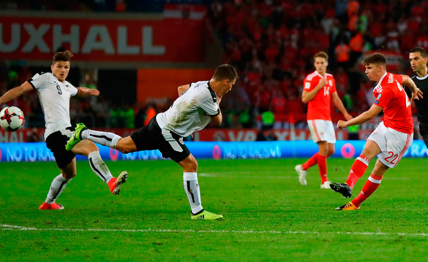 Ben Woodburn of Wales (22) scores Photo: Getty