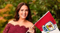 ONLY ONE WINNER: Grainne Seoige proudly wearing her colours before today's All-Ireland final. Photo: Gerry Mooney