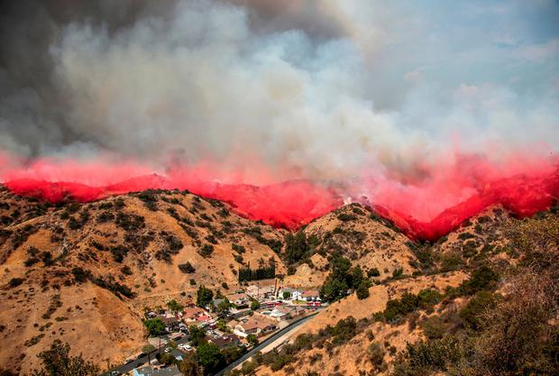 The La Tuna Canyon fire over Burbank, California, U.S., September 2, 2017. REUTERS/ Kyle Grillot TPX IMAGES OF THE DAY