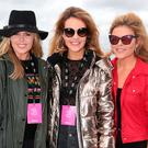 Sisters Ailbhe Garrihy, Aoibhin Garrihy and Doireann Garrihy at the #3Disco at the sold-out three-day festival at Stradbally, Co. Laois.
