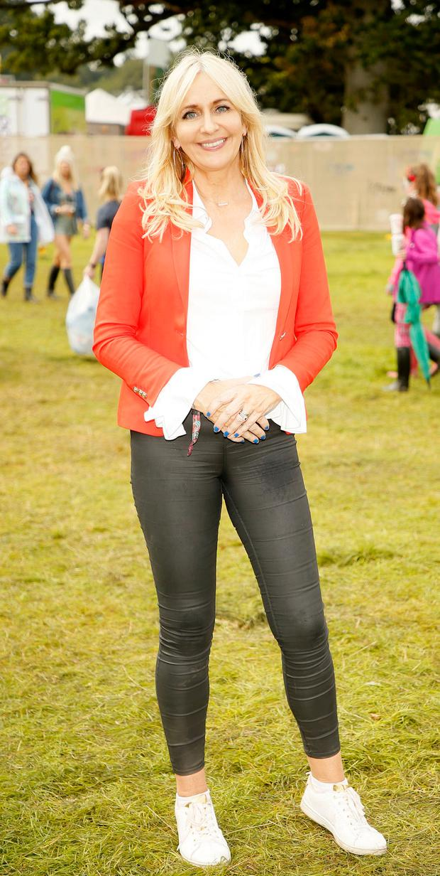 Miriam O'Callaghan pictured at the Newstalk Lounge at Electric Picnic.