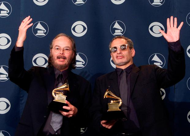 Steely Dan members Walter Becker (L) and Donald Fagan won Best Pop Vocal Album for