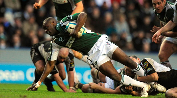 Ojo showed electric pace to score an early contender for try of the season. Picture credit: Stephen McCarthy / Sportsfile