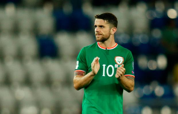 Robbie Brady – Ireland's current Young Player of the Year – who turns 26 next January. Photo: Reuters/David Mdzinarishvili