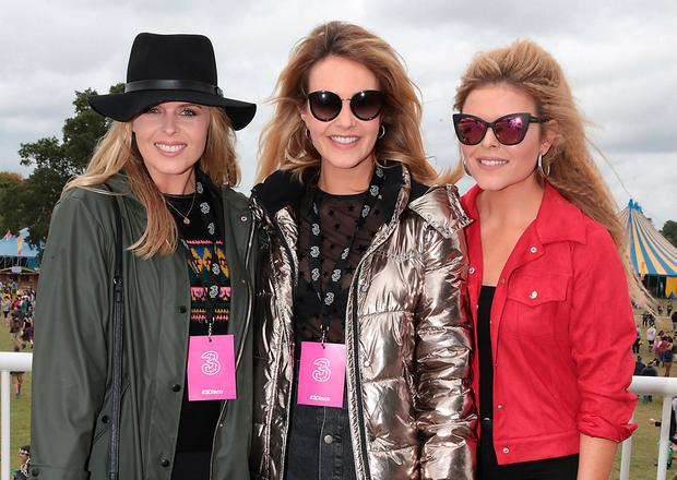 Sisters Ailbhe, Aoibhin and Doireann Garrihy enjoying the music at Electric Picnic in Stradbally, Co Laois. Photo: Brian McEvoy