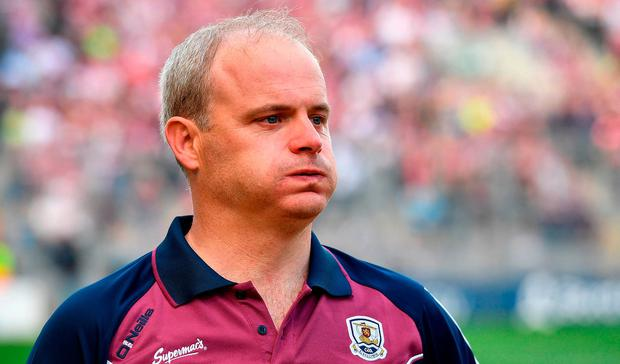Galway manager Micheál Donoghue after the GAA Hurling All-Ireland Senior Championship Final match between Galway and Waterford at Croke Park in Dublin. Photo by Brendan Moran/Sportsfile