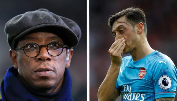 Ian Wright has responded to Mesut Ozil's social media post with some strong words of his own. CREDIT: GETTY IMAGES