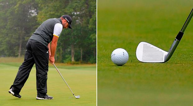 Sergio Garcia tried a manner of different clubs on the greens. CREDIT: GETTY IMAGES