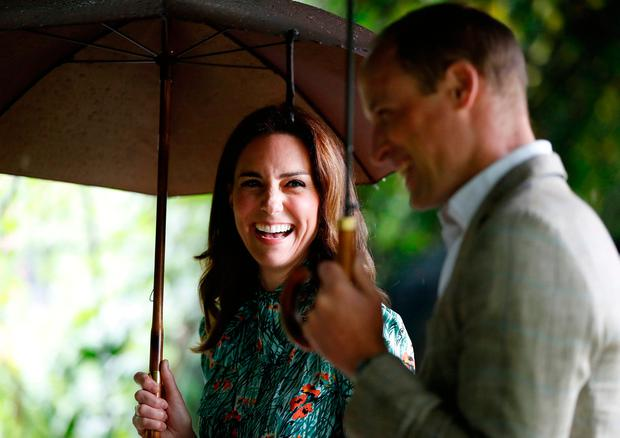 The Duke and Duchess of Cambridge are shown around the White Garden in Kensington Palace, London, during a visit to meet representatives from charities supported by Diana, the Princess of Wales.Kirsty Wigglesworth/PA Wire