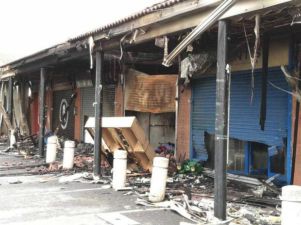 A number of shops were seriously damaged Photo: Gavin White
