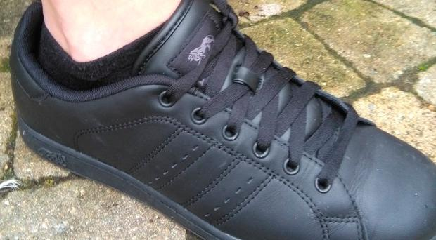 The shoes that the schoolboy was wearing. Photo: RTE Liveline