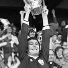 Galway captain Joe Connolly riasing the Liam MacCarthy Cup back in 1980. Photo: Independent Newspapers Ireland
