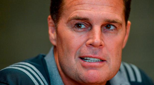 Munster coach Rassie Erasmus speaking to media during a press conference at University of Limerick. Photo: Eóin Noonan/Sportsfile