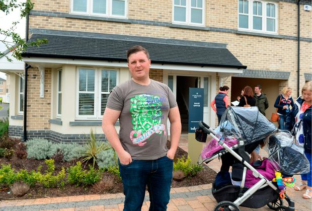 Liam Kelly after he secured a home at St Marnock's Bay, Portmarnock. Photos: Caroline Quinn