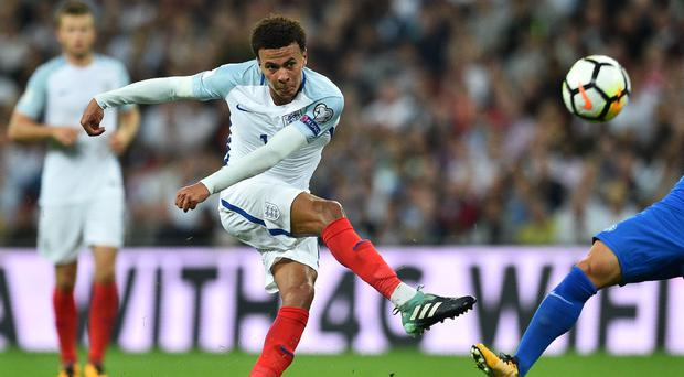 England's midfielder Dele Alli hit the headlines after his on-field gesture (GLYN KIRK/AFP/Getty Images)