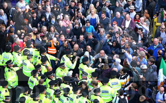 Police intervening in Liverpool to protect members of National Action (File photo: Peter Byrne/PA Wire)