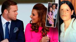 Wayne Rooney and wife Colleen. Marsia Lieghio and her father Leo (inset)