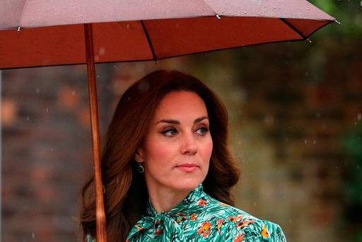 Britain's Catherine Duchess of Cambridge at the White Garden in Kensington Palace on August 30, 2017. Reuters/Hannah McKay/File Photo