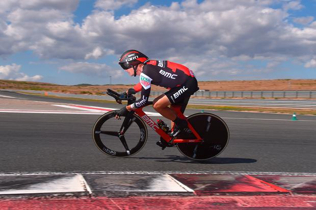 Nicolas Roche competes in the Individual Time Trial on the Circuito de Navarra - Logrono (40,2km) Photo: Getty
