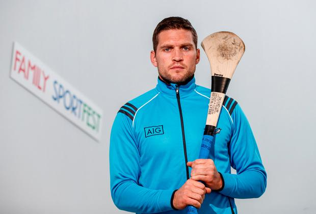 Former Dublin dual star Conal Keaney at yesterday's Sport Ireland National Sports Campus for the launch of Ireland's first Family SportFest, being held there on Sunday October 1. For more info log onto www.nationalsportscampus.ie/ familysportfest. Photo: INPHO