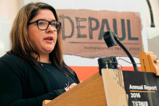 Homelessness charity Depaul Ireland's CEO Kerry Anthony launches the report