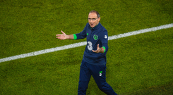 Republic of Ireland manager Martin O'Neill during the FIFA World Cup Qualifier Group D match between Republic of Ireland and Serbia at the Aviva Stadium in Dublin. Photo by Stephen McCarthy/Sportsfile