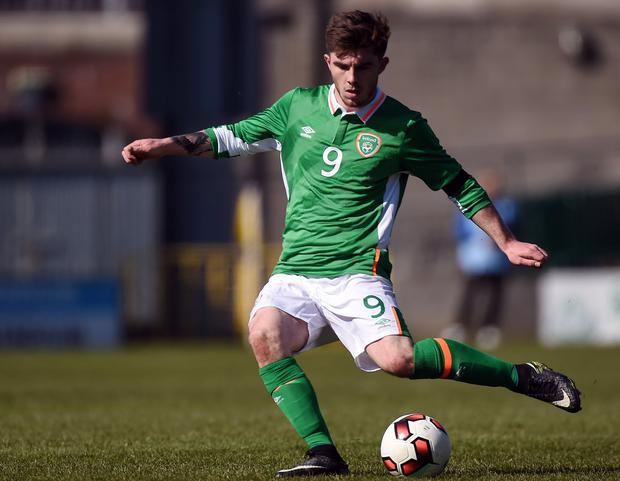 Republic of Ireland U21 goalscorer Ryan Manning. Photo: Matt Browne/Sportsfile