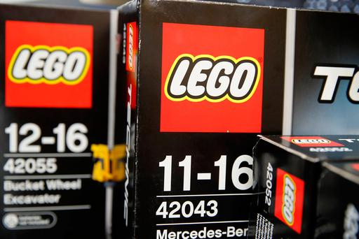 Sets of Lego bricks are seen at a toy store in Bonn, Germany. Photo: Reuters